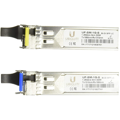 Module Quang Ubiquiti Single-Mode Fiber 1.25 Gbps SFP LC 3KM 1-Pair 10-Pairs (UF-SM-1G-S)