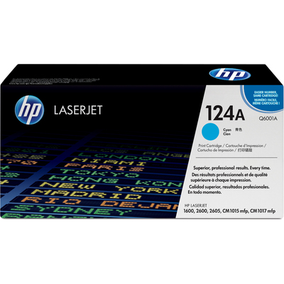 Mực In Laser Màu HP 124A Cyan Original LaserJet Toner Cartridge (Q6001A)