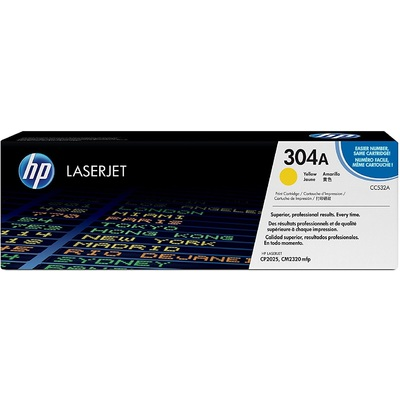 Mực In Laser Màu HP 304A Yellow Original LaserJet Toner Cartridge (CC532A)