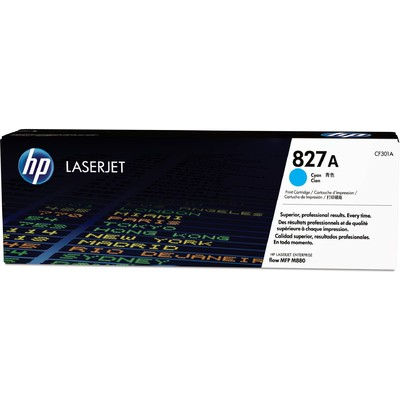Mực In Laser Màu HP 827A Cyan Original LaserJet Toner Cartridge (CF301A)