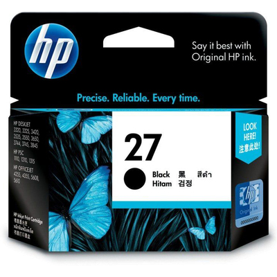 Mực In Phun HP 27 Black Original Ink Cartridge (C8727AA)