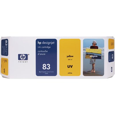 Mực In Phun HP 83 680-ml Yellow DesignJet UV Ink Cartridge (C4943A)