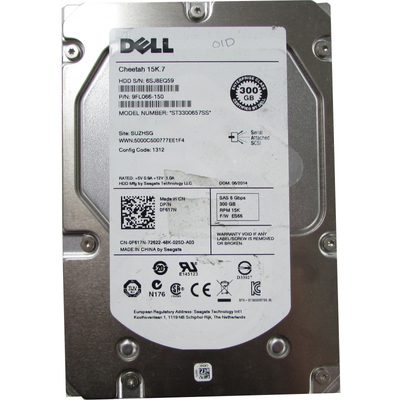Ổ Cứng Server Dell 300GB SAS 15kRPM 3.5-Inch (F617N)
